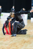 Unidentified Dance Couple Performs Youth-2 Latin-American Program on the WDSF Baltic Grand Prix-2106 Championship Royalty Free Stock Image