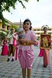 Unidentified deltagare ståtar in, Songkhla Thailand Fotografering för Bildbyråer