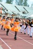 Unidentified deltagare ståtar in, Songkhla Thailand Royaltyfri Foto