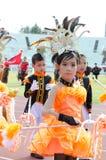 Unidentified deltagare ståtar in, Songkhla Thailand Royaltyfri Bild