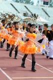 Unidentified deltagare ståtar in, Songkhla Thailand Arkivbilder
