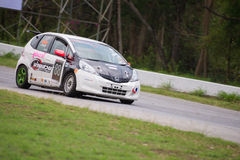 Unidentified driver Honda Brio in race Royalty Free Stock Photo