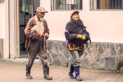 Unidentified Ecuadorian People Walking On The Streets Royalty Free Stock Images