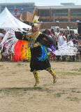 Unidentified female Native American dancer at the NYC Pow Wow in Brooklyn Stock Images