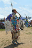 Unidentified female Native American dancer at the NYC Pow Wow in Brooklyn Royalty Free Stock Photos