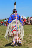 Unidentified female Native American dancer wears traditional Pow Wow dress during the NYC Pow Wow Stock Images