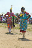 Unidentified female Native American dancers at the NYC Pow Wow in Brooklyn Royalty Free Stock Photography