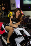 Unidentified female presenter of Kawasaki in Motor Show. Bangkok, Thailand - March 29, 2013: Unidentified female presenter of Kawasaki in Bangkok Motor Show 2013 Stock Photo