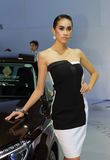 Unidentified female presenter of Mercedes Benz in Motor Show Stock Image