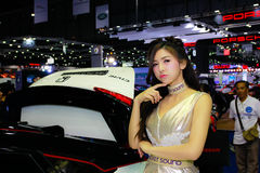 An Unidentified female presenter pose in Bangkok International Motor Show 2017 Stock Photo
