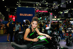 An Unidentified female presenter pose in Bangkok International Motor Show 2017 Royalty Free Stock Images