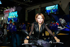 An Unidentified female presenter pose in Bangkok International Motor Show 2017 royalty free stock photography
