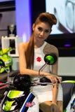 Unidentified female presenter of Suzuki in Motor Show Stock Images