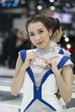 Unidentified female presenters model Royalty Free Stock Photo