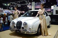 Unidentified females presenter at Mitsuoka Viewt Stock Images