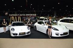 Unidentified females presenter at Topmost Auto Stock Photo