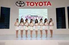 Unidentified females presenter at Toyota Stock Image