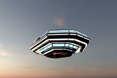 Unidentified flying object Royalty Free Stock Image
