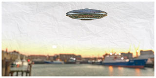 Unidentified flying object Stock Photos
