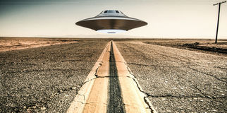 Unidentified flying object Royalty Free Stock Images