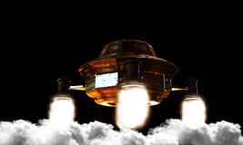 Unidentified flying object Stock Images