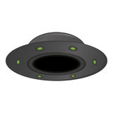 Unidentified flying object issolated on white background,  Stock Images