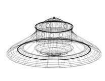 Unidentified flying object - UFO Architect blueprint - isolated. Shoot Of The Unidentified flying object - UFO Architect blueprint - isolated royalty free stock photos