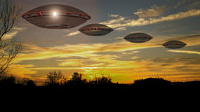 Unidentified flying object UFO Royalty Free Stock Photography