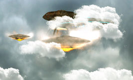 Unidentified flying objects Stock Photo
