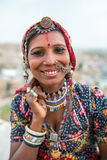 Unidentified gipsy woman in traditional clothes and jewelry Royalty Free Stock Photos