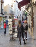 Unidentified girls on the street in Toledo Stock Photos