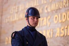 Unidentified Guard at Mausoleum of Atatürk Stock Photos