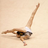 Unidentified gymnast performs Royalty Free Stock Photos