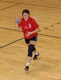Unidentified handball players in action Royalty Free Stock Images