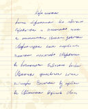 Unidentified handwriting scribble Royalty Free Stock Images