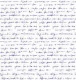 Unidentified handwriting scribble. Seamless pattern Royalty Free Stock Photography