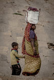 Unidentified hindu women on the sacred Ganges river banks Royalty Free Stock Photos