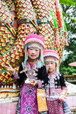 Unidentified Hmong children 4-6 year old gather for photograph royalty free stock photo