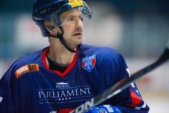 Unidentified hockey player Royalty Free Stock Photo