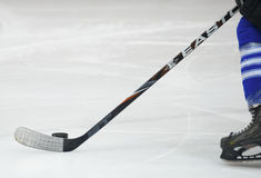 Unidentified hockey player Royalty Free Stock Image
