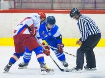 Unidentified hockey players Royalty Free Stock Photos