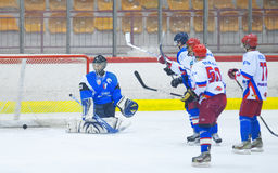 Unidentified hockey players Stock Photography