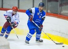 Unidentified hockey players Stock Photo