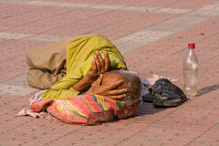 Unidentified homeless man, India. Royalty Free Stock Image
