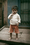 Unidentified Indian small boy during  Diwali holiday Royalty Free Stock Images