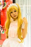 An unidentified Japanese anime cosplay. Royalty Free Stock Image