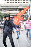 An unidentified Japanese anime cosplay at Central World in Thail Stock Photo