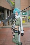 unidentified Japanese anime cosplay pose in Japan Festa royalty free stock photos