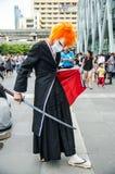 Unidentified Japanese anime cosplay pose in Japan Festa in Bangkok 2013 Royalty Free Stock Image