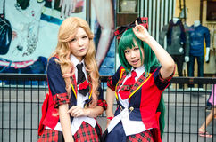 Unidentified Japanese anime cosplay pose in Japan Festa in Bangkok 2013 Royalty Free Stock Photo